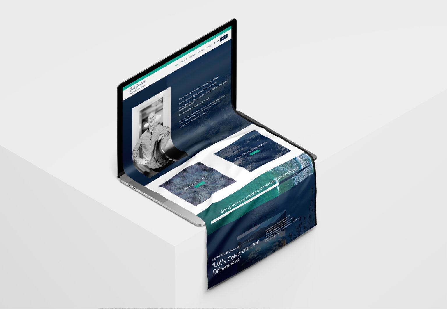 James Bampfield website design laptop mockup